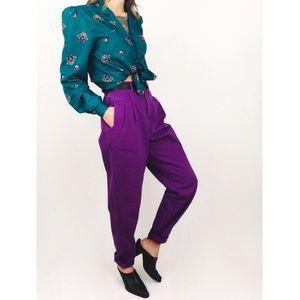 Vintage ⚡️ High-Waisted Electric Violet Denim